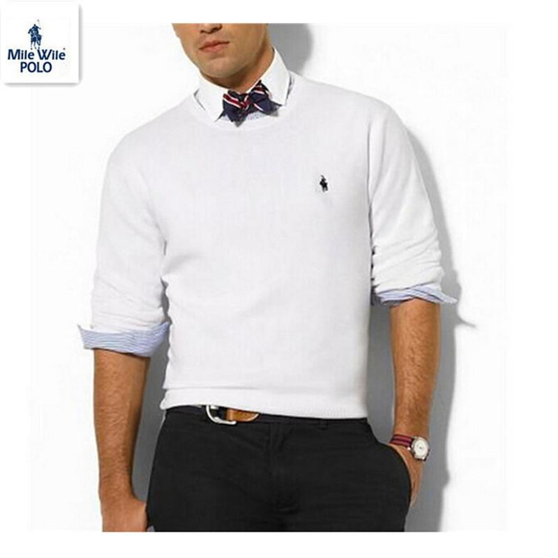 100% хлопок компактный лошадь поло свитер тянуть де мульти-марка homme мужские свитера с круглым вырезом длинная кардиган мужчины кашемир