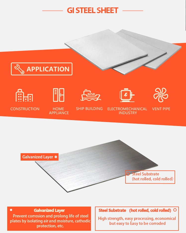 ZhenXiang 10mm thickness hot rolled galvanized steel plate