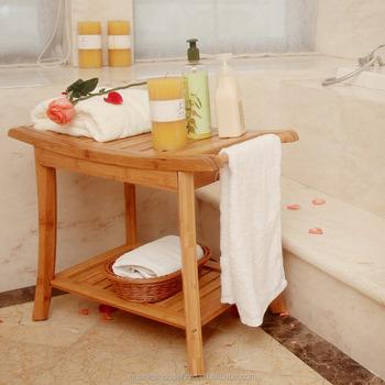 Dusche Sitzbank Mit Handtuch Hanger Badezimmer Spa Bad Veranstalter Hocker  Mit 2-tier Ablageboden,Badewanne Dusche Stuhl - Buy Dusche Stuhl,Bambus ...