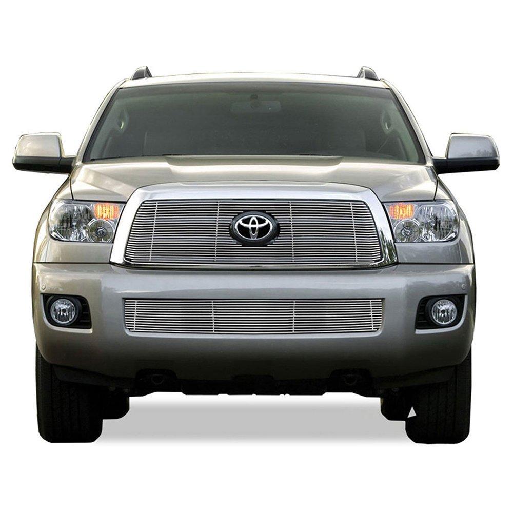 Premium FX 2pc Chrome Billet Grille Insert Kit for 2008-2013 Toyota Sequoia