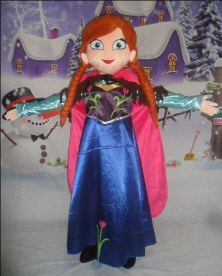 Sale Anna Mascot Costume Fancy Party font b Dress b font Elsa Mascot Costume Suit Carnival