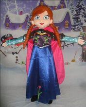 Venda Traje Da Mascote Fantasia Vestido de Festa Elsa Anna Traje Da Mascote Terno Traje de Carnaval