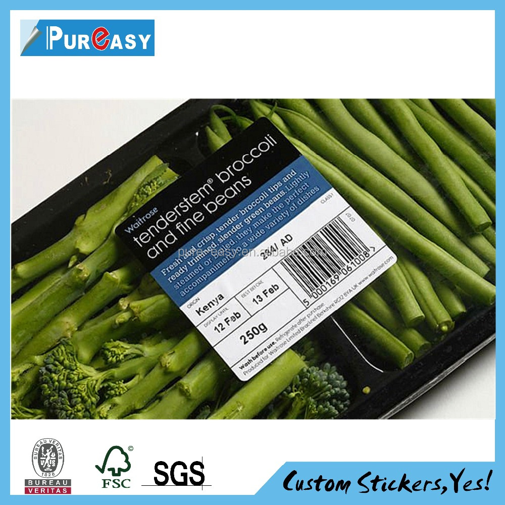 Supermarket Packaging & Printing and Water soluble gluesauce adhesive label