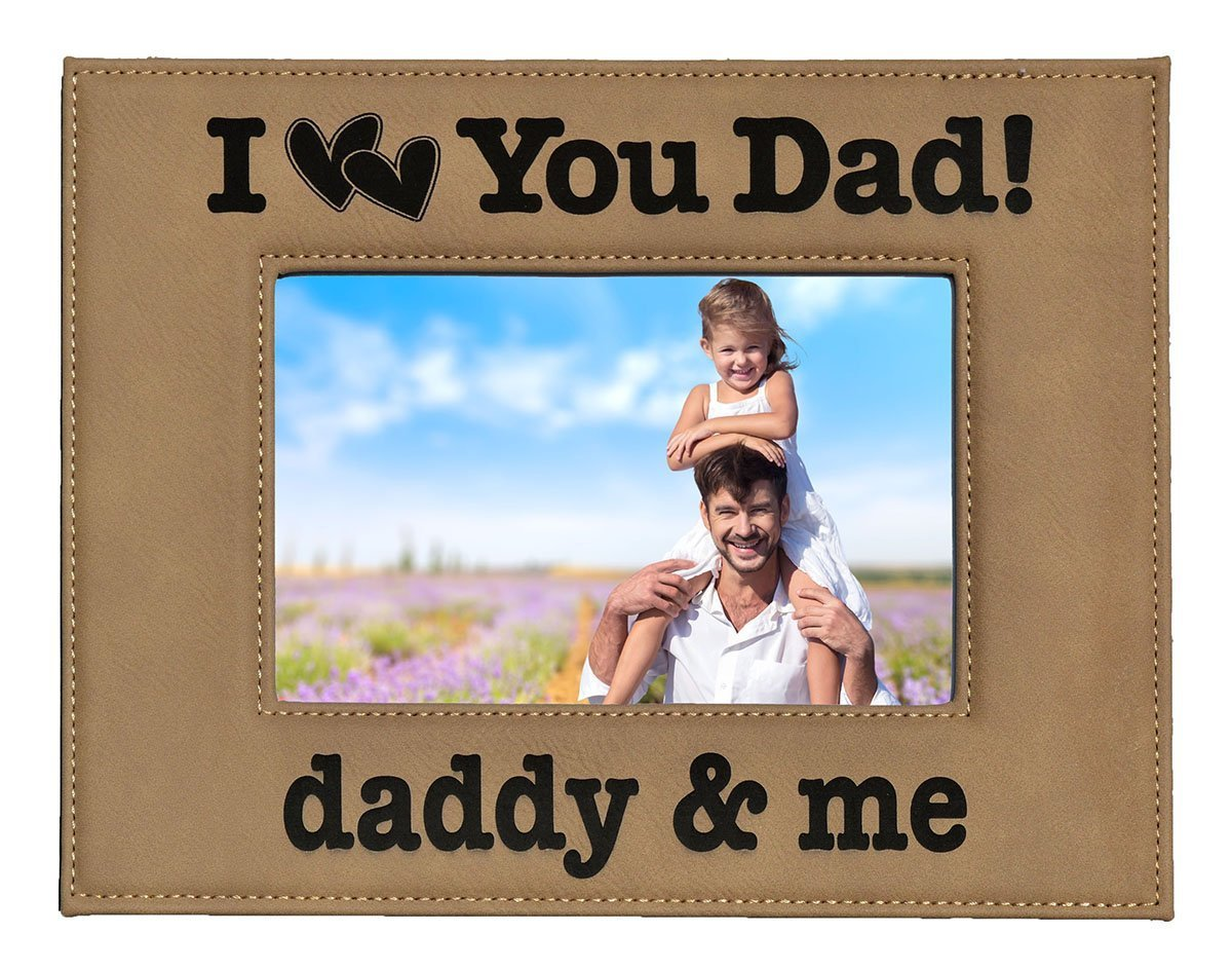 Buy GIFT FOR DAD ~ Engraved Leatherette Picture Frame ~ \