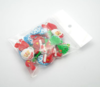 Latest New Christmas Silicone Charms Pack 50pcs For Rubbre Bands Bracelets