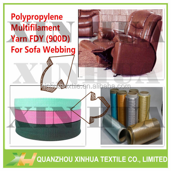 Sofa Webbing/ Tapes made from high tenacity 100% PP Intermingled Flat Shape Yarn
