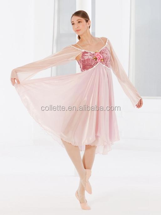 Mb2015138 Lindo Terciopelo Rosa Bailarina Lycrial Ballet Danza Leotardo Danza Vestido Largo Del Chiffion Buy Niños Vestidos De Bailehermoso Vestido