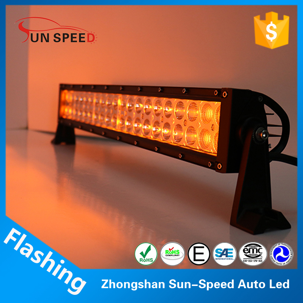 Full size optional used amber light bars warning flash strobe led light bar emergency searching light
