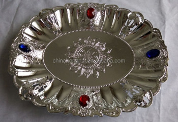 Cheap Well Sold Fruit Plate With Gold And Silver Plating Decorative Plastic Tray Buy Decorative Plate Dry Fruit Plate Cheap Serving Trays Product On