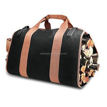 Firewood Carry Bag Durable Heavy Duty waxed Canvas Wood Tote Bag Fireplace Stove Accessories