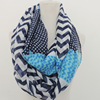 chatter marks infinity chiffon scarf, indian silk scarf(SWTJU1221)