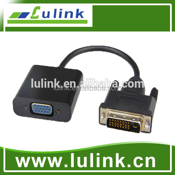 2018 High Quality Active Dvi To Vga Converter With Power