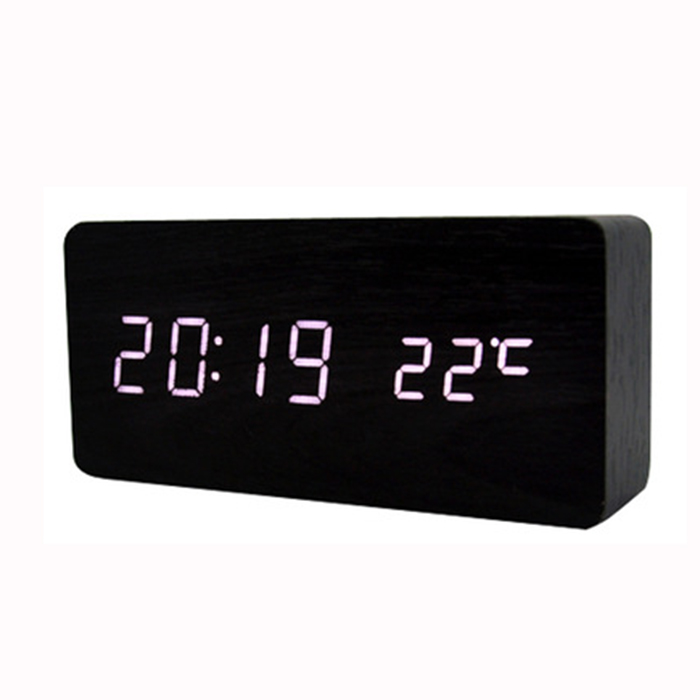ZOGIFT promotional led digital wall clock bamboo wooden digital wall clock