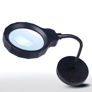 handheld $ desk type magnifying glass with powerful led light,2 in 1 usb charge magnifying glass