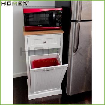 Mülleimer Küchenschrank mikrowelle küche warenkorb mit hideaway mülleimer halter/holz