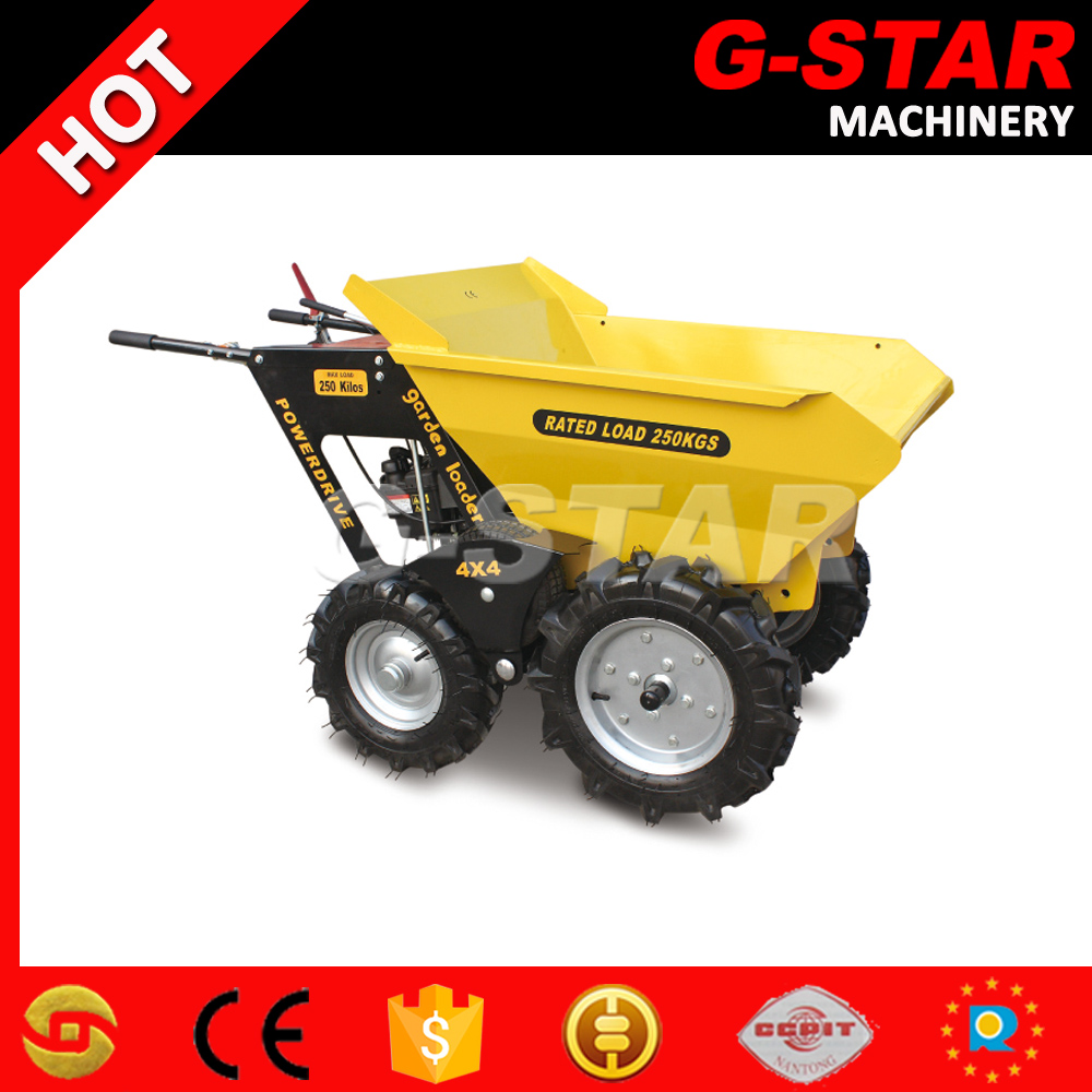 BY250 hot sales construction machinery concrete power wheelbarrow
