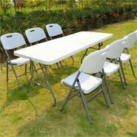 portable 6ft 72inch renctangle plastic camping picnic folding tables
