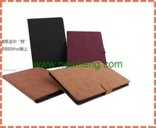 Simple book type portable business stand wallet leather case for ipad mini