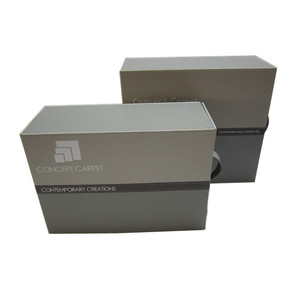 catalogue box for material swatches BestGift A4 PU or leather Box File