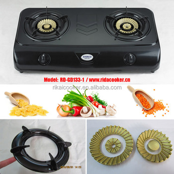 2 Burner New Teflon Painting Table Gas Cooker/ Gas Stove (RD GD133