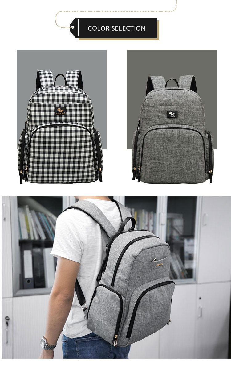 Multi-functional  Breast Pump Bag Backpack Diaper Bag with Laptop Compartment
