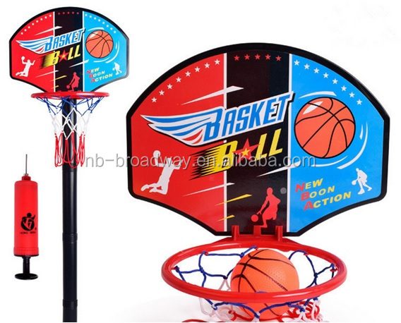 AMAZON CHINA CHILD KID OUTDOOR PORTABLE 2 IN 1 MINI SPORT TOY PVC BASKETBALL HOOP GAME STAND SET