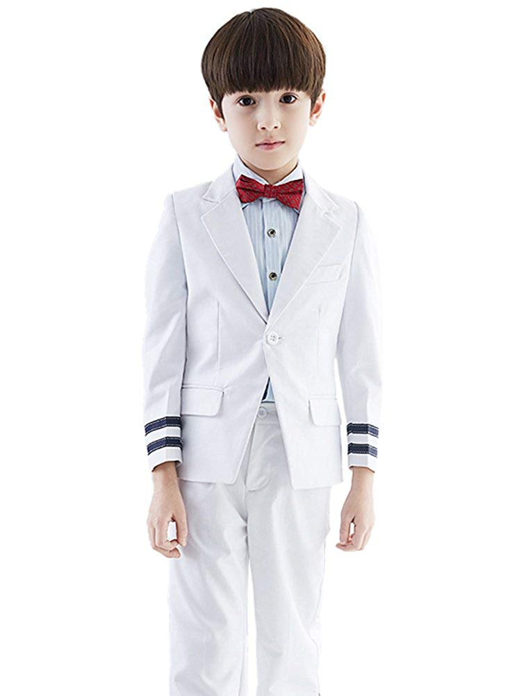 SK Studio Boys' 4-Piece Outfit Regular Fit Wedding Dress Suits