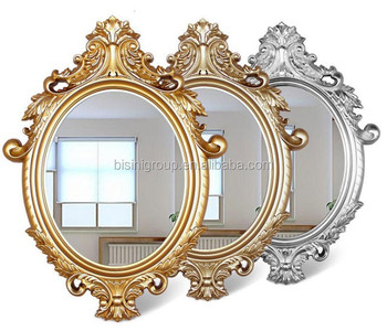 New Arrival French Baroque Golden Oval Framed Mirror For Console And Bathroom Vanity Bf11 09303a