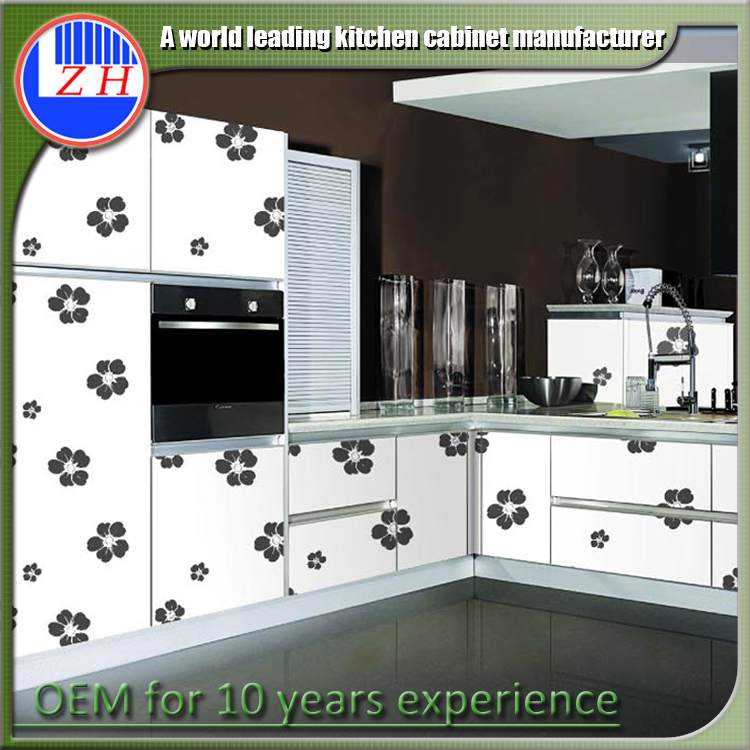 Vinyl Wrap Kitchen Cabinets: High Gloss Acrylic/mdf Kitchen Vinyl Wrap Doors Cabinets