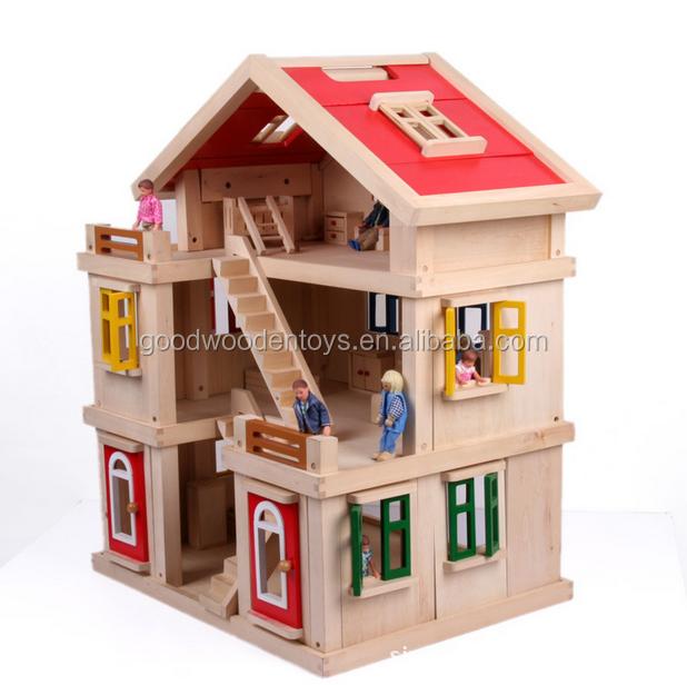 2016 nuevo dise o de madera casa de juguete para ni os - Juguetes en casa ...