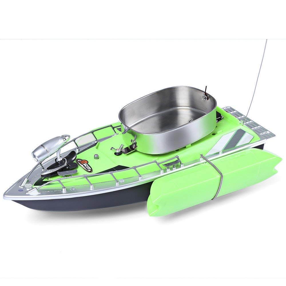 Upgrade intelligent nest fishing boat wireless remote control boat put bait boat hook green