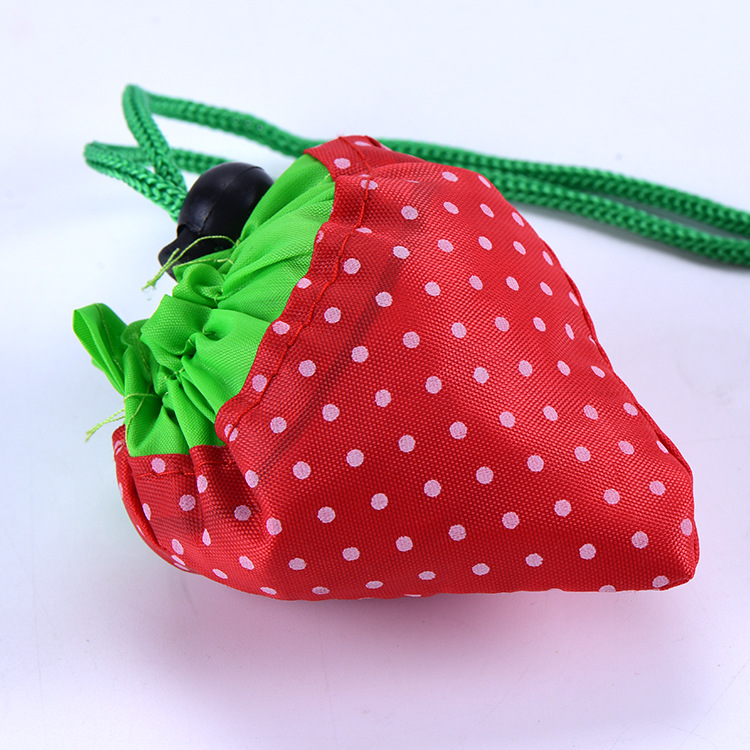 Wholesale custom by 1 piece cute strawberry plastic cheap <strong>tote</strong> drawstring backpack bag