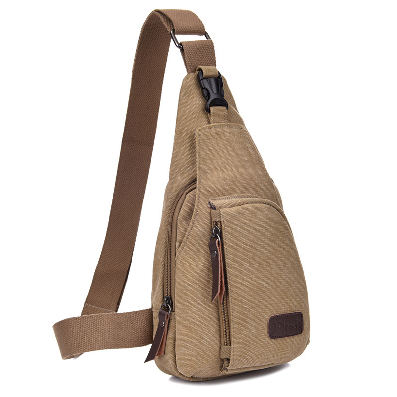 Factory directly men shoulder bag durable sports canvas sling bags promotional