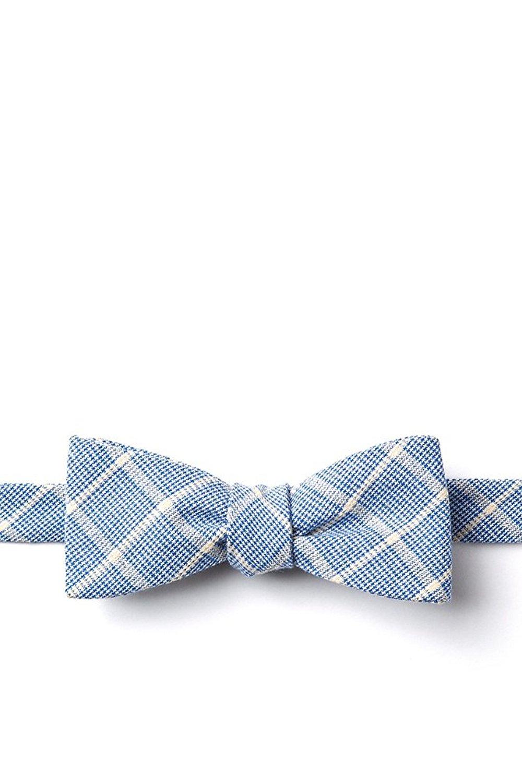 Short Skinny Light Blue Pale Crystal Tie Clip 44mm