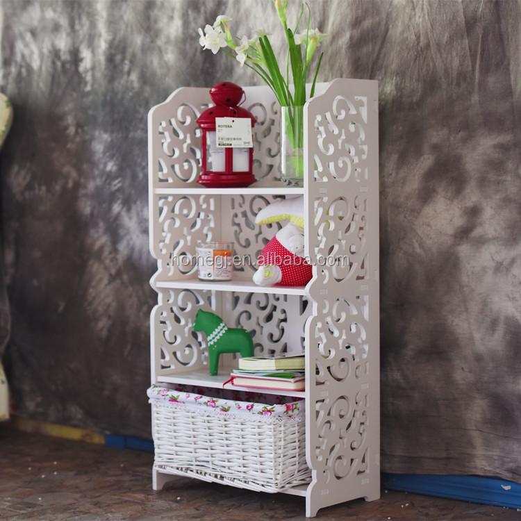 Decoratieve houten gesneden hoek wandplank voor woonkamer-opslag ...