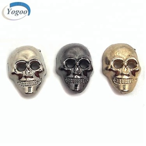 Various Plating Color Skull Custom Metal Clothing Sewing Tag for T shirt