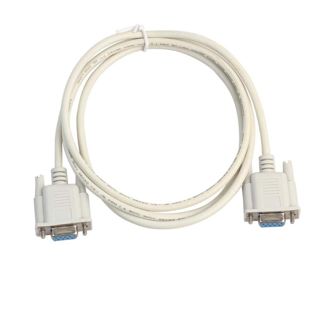 Waymine New RS232 DB9 9 Pin Serial Female To Female Port Extension Converter PC Cable,Serial Null Modem Cable