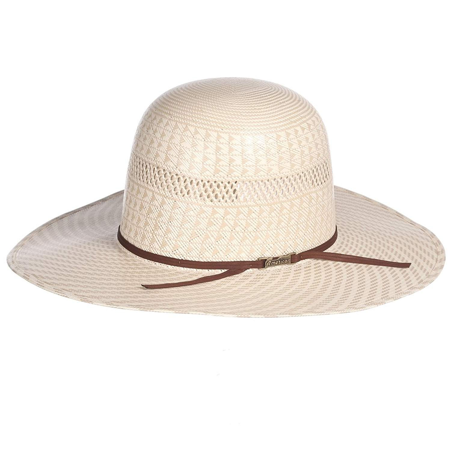 624f7c40ccb4f Get Quotations · NRS American Hat Company Mens Ivory Tan Open Crown Vent  Round Oval Two Cord Chocolate