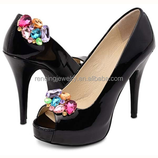 the latest hot sale shoe accessories & back of shoe clips & fashion rhinestone shoe ornaments