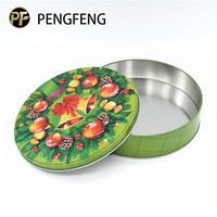 Food grade round biscuit and cookies tin box