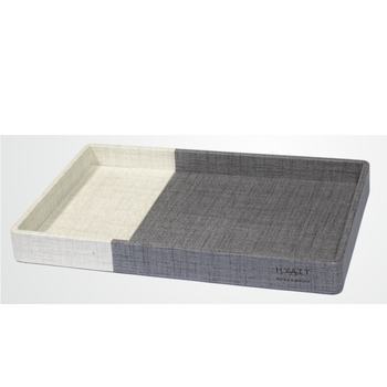 Customizable Hotel Room PU Leather Serving Tray