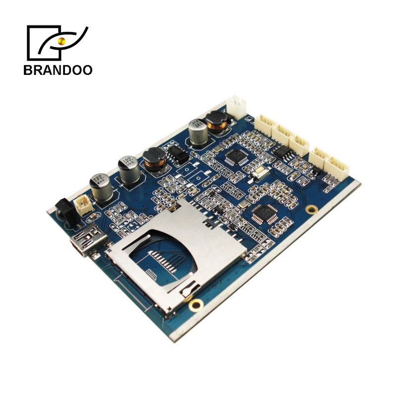 2CH DVR circuit board with Mpeg4 compression and ASF video format