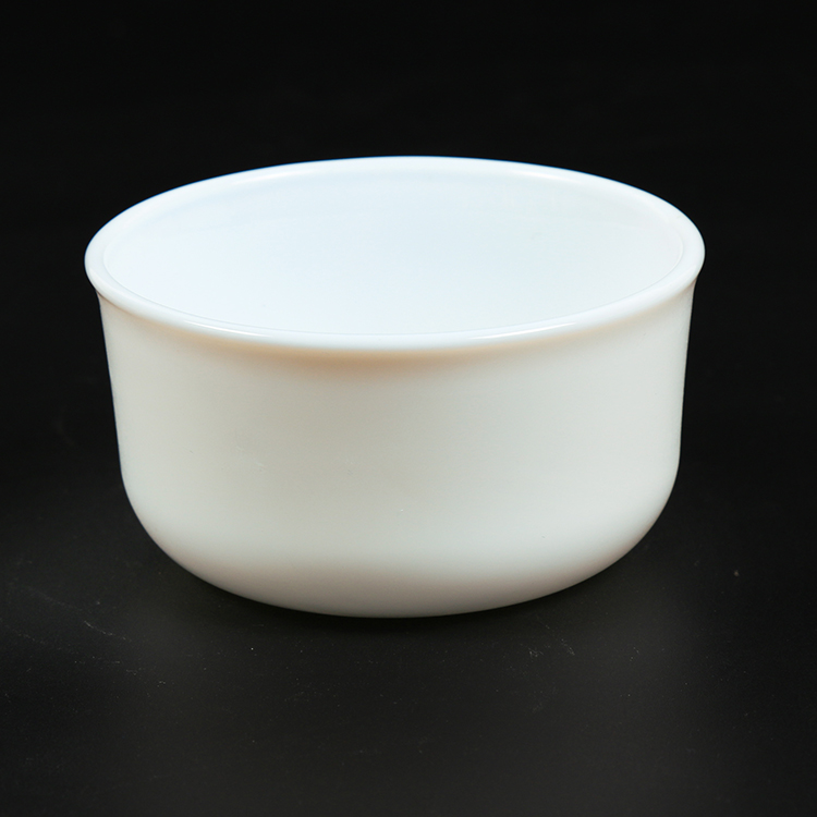 Wholesale recycling solid opal glass terrarium bowl for restaurant