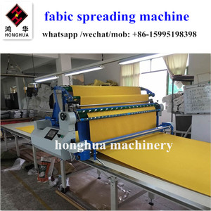 HH-ZY013 straight knife apparel fabric knit woven polyester spreading machine