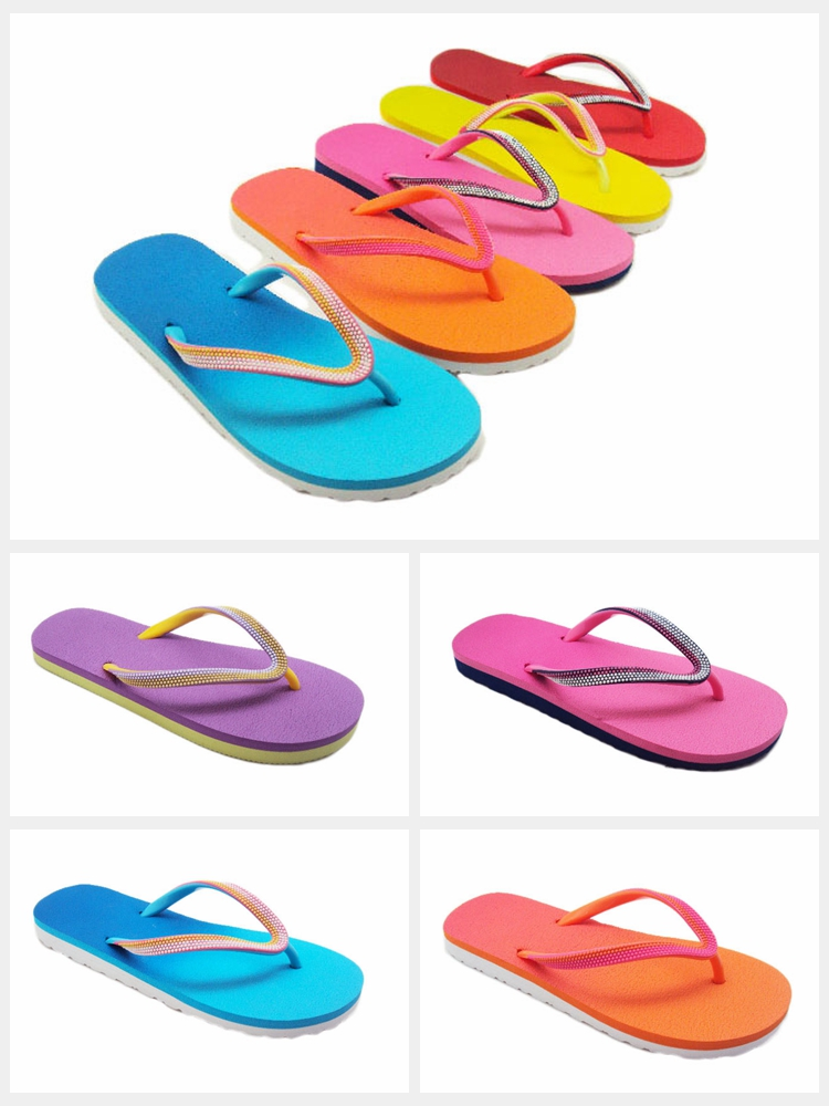 de77461f9970e Wholesale Beach Sandals With Unique Molded Textured Rubber Upper Women s  Basic Flip Flops Assorted Bright Colors