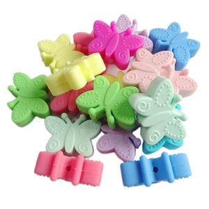 Food Grade BPA Free Silicone Loose Animal Teething Beads For Baby DIY Jewelry Pendant Wholesale