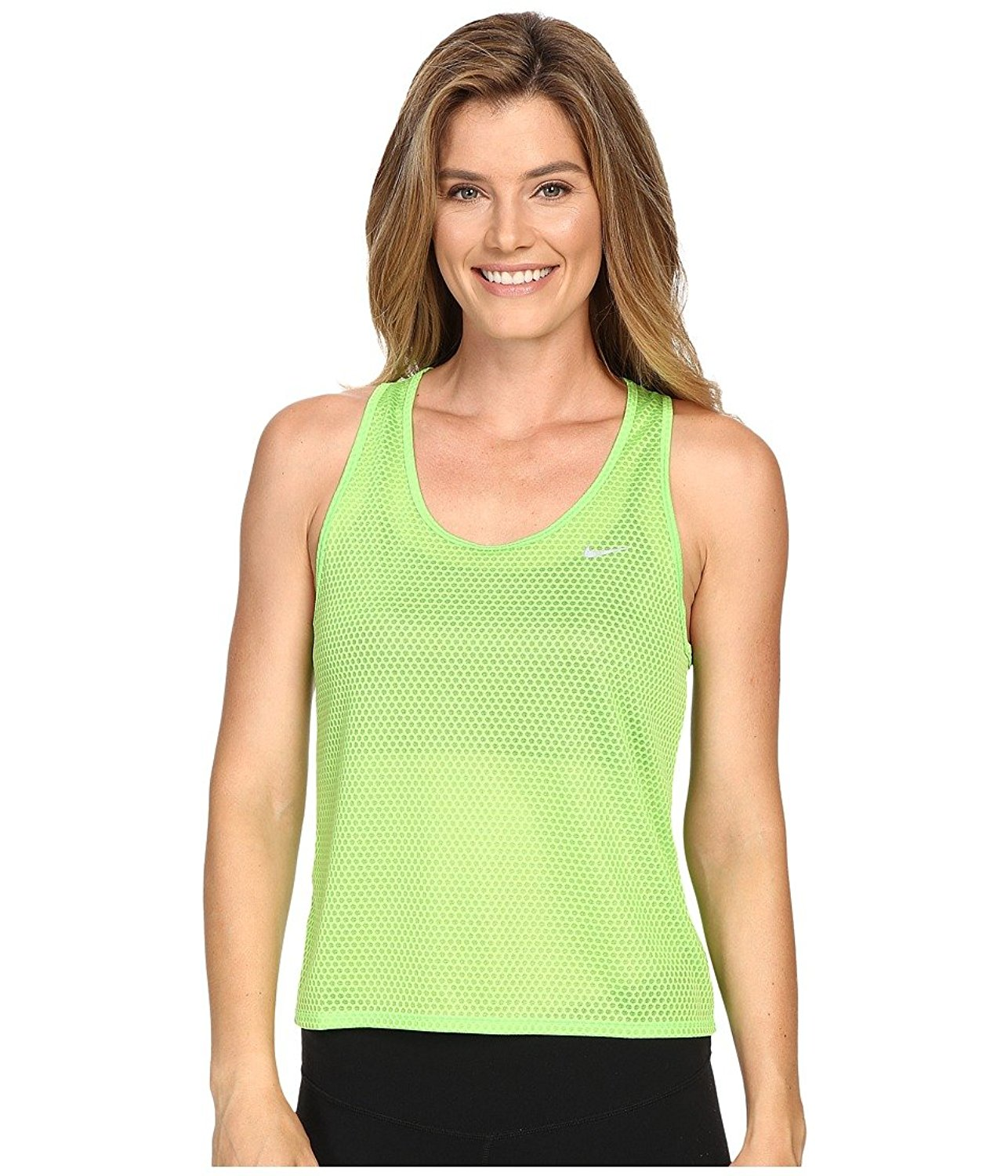 1987c1dfa160 Get Quotations · Nike Women s Run Fast Tank Top Action Green Reflective  Silver Tank Top MD