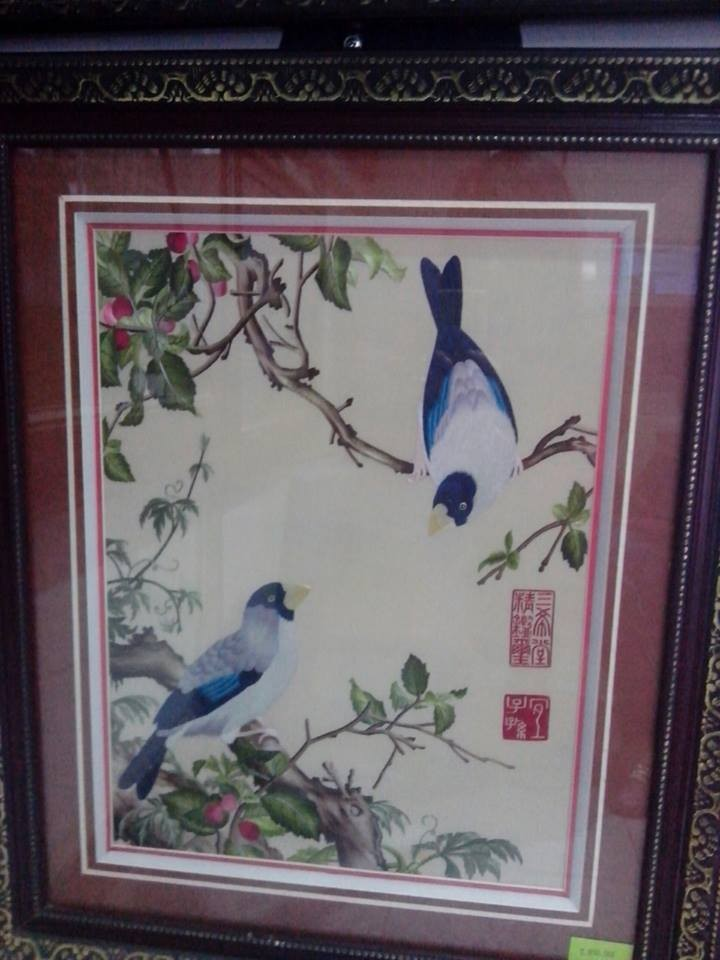 handmade embroidery picture from traditional villages Vietnam
