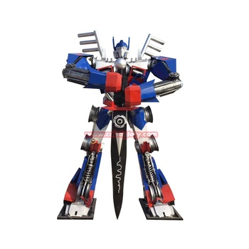 Hot Selling Customized Stainless Steel Sculpture Optimus Prime Transformer