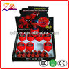 red spider man kids led spinning top toy
